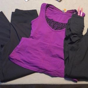 Lucy Bundle XS.  2 pants and top all EUC
